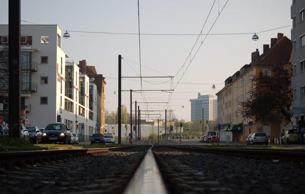 Bahngleis in Hannover